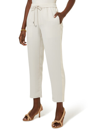 Crepe Cropped Pants