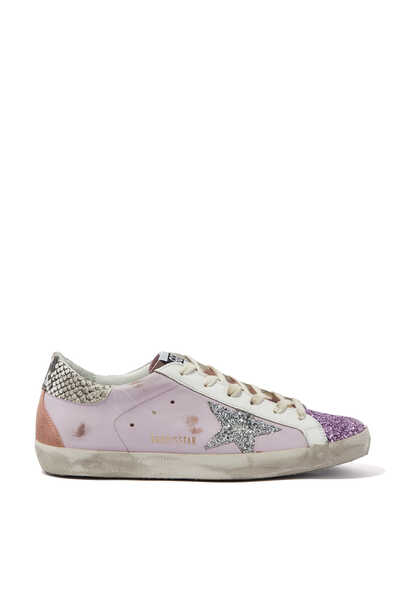 Glitter and Python Superstar Sneakers