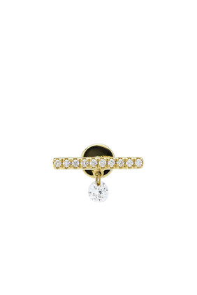 Mini Bar Piercing With Pavé Diamonds