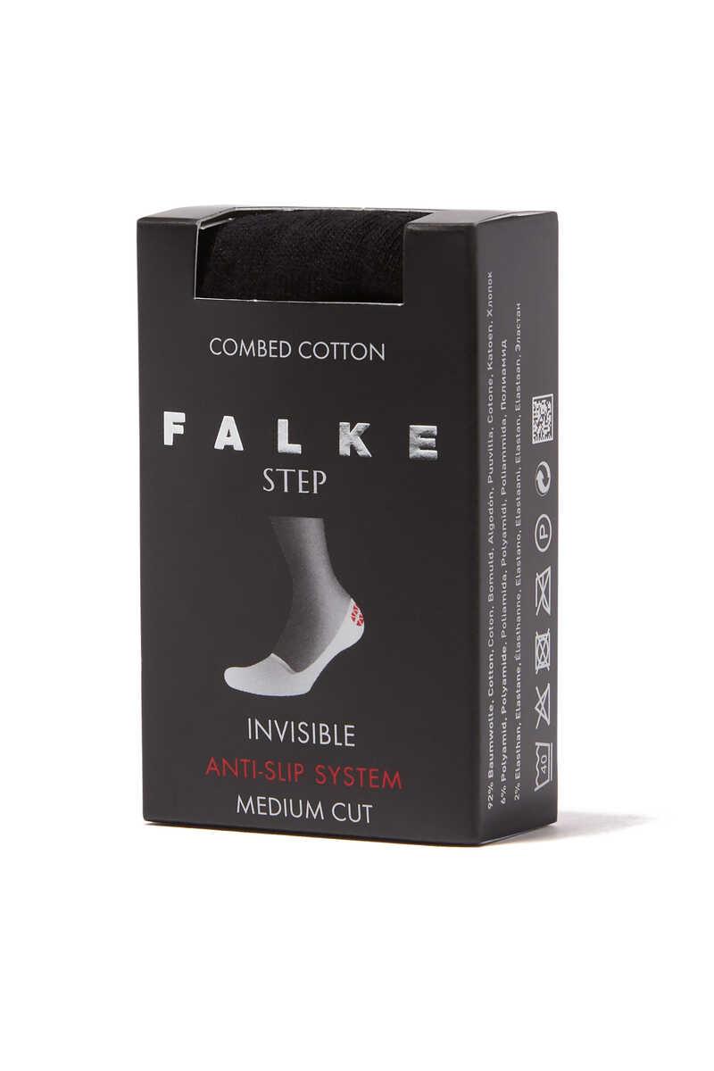 Black Step No-Show Socks image number 3