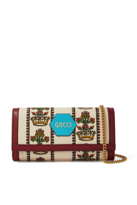 Gucci 100 Chain Wallet in Jacquard