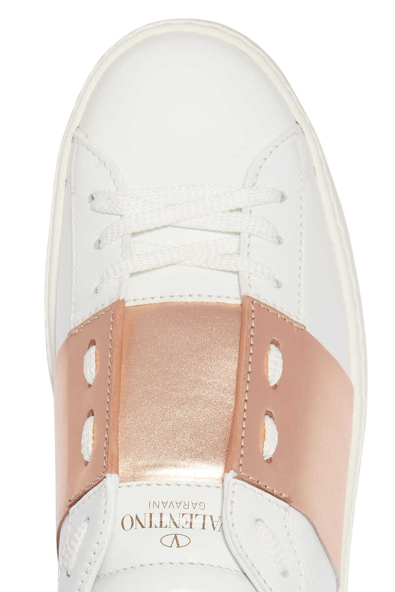 Valentino Garavani Patent Striped Open Sneakers image number 8
