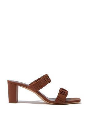 Frankie Ruched Mules