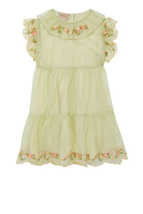 Embroidery Silk Dress