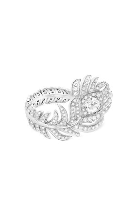 Plume de Paon Small Diamond Ring