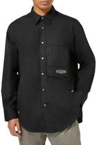 Oversized Logo Cotton Shirt