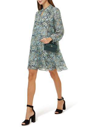 Reladon Printed Chiffon Dress