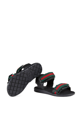 Children's Leather Sandal With Web