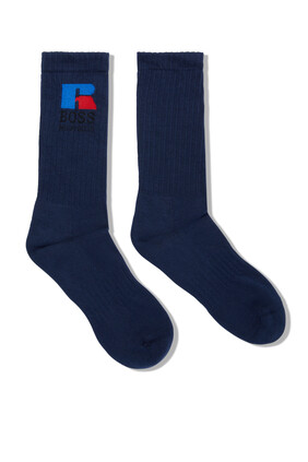 Logo Quarter Length Socks