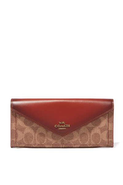 Colourblock Signature Soft Wallet