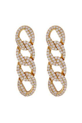 Pavé Curb Chain Earrings