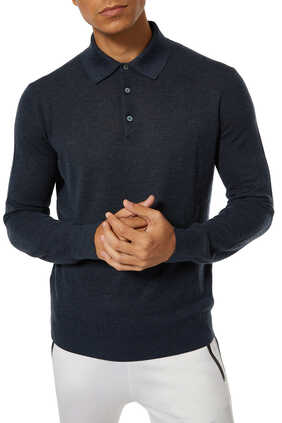 Cashmere And Silk Knit Polo Shirt