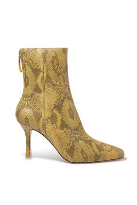 Laura Python-Embossed Leather Boots