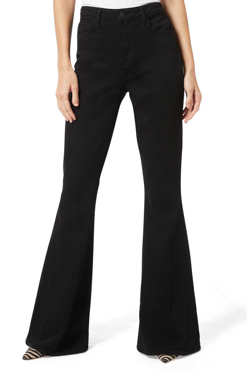 Black Solana Big Flare Pants image number 1