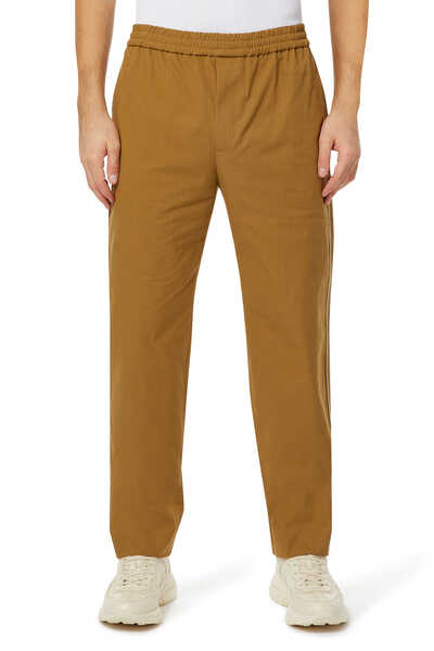 Logo Cotton Blend Pants