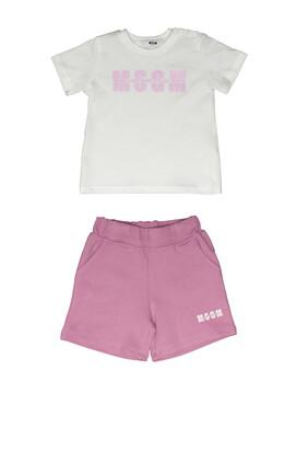 Logo T-Shirt and Shorts Set