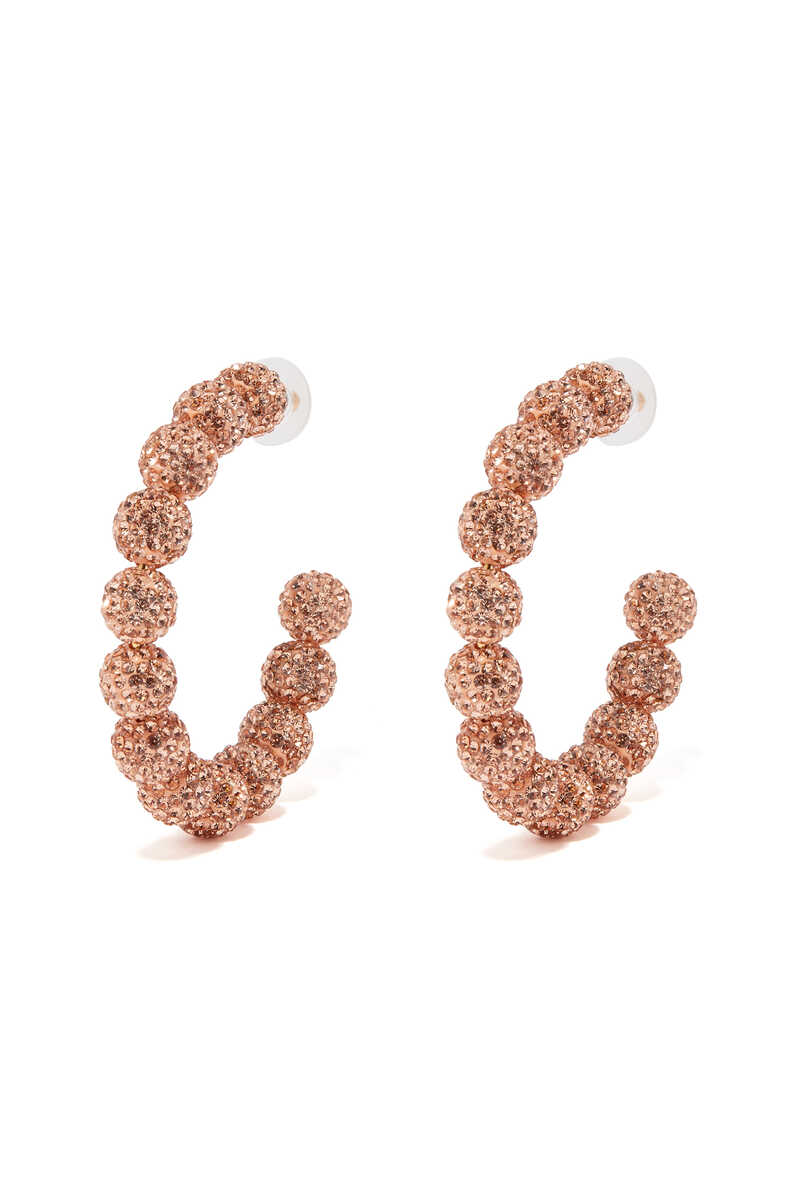 Stardust Crystal Hoop Earrings image thumbnail number 1