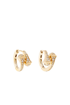 Cleo Diamond Huggie Earrings