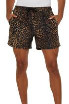 Leopard Print Whip Boardshorts