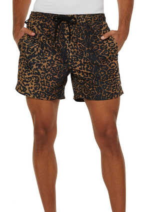 Leopard Print Whip Boardshorts