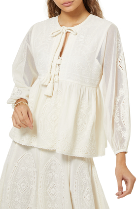 Rubia Embroidered Lace Top