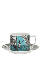 Spode Patchwork Willow Tea Cup & Saucer