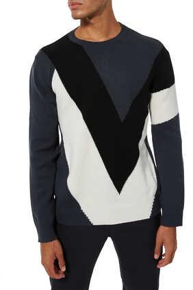 VLOGO Intarsia Sweater