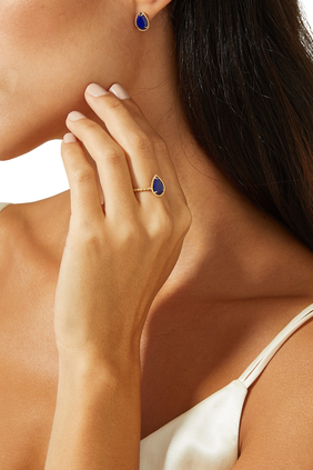 Serpent Bohème Lapis Lazuli Stud Earrings