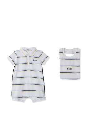 Striped Bodysuit and Hat Set