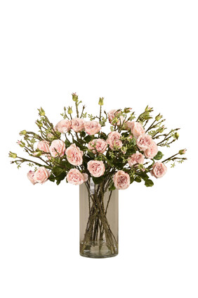 Large Rose Arrangement in a Glass