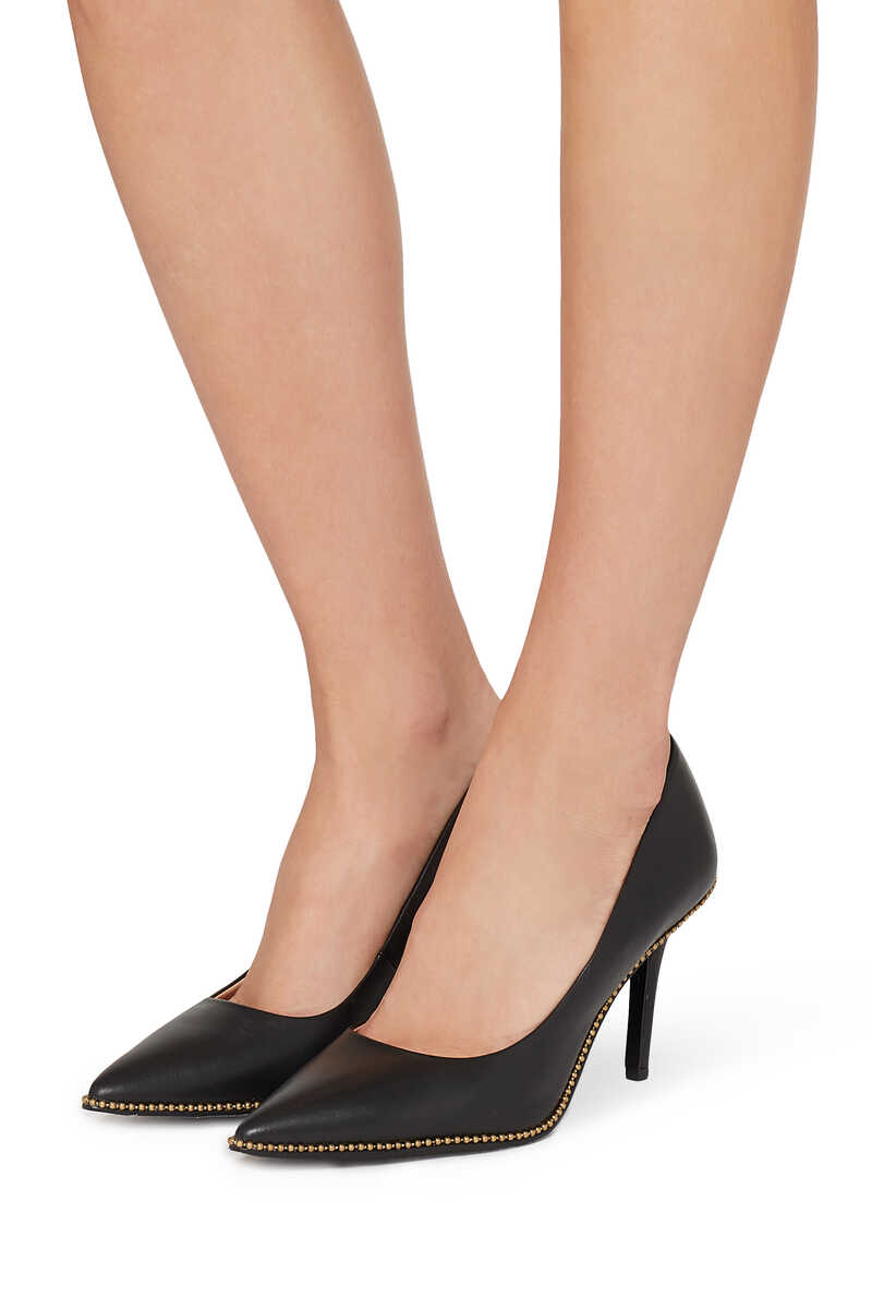 Waverly Beadchain Leather Pumps image number 2