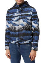 Watercolour Print Windbreaker Jacket