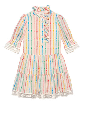 GG and Star Cotton Dress