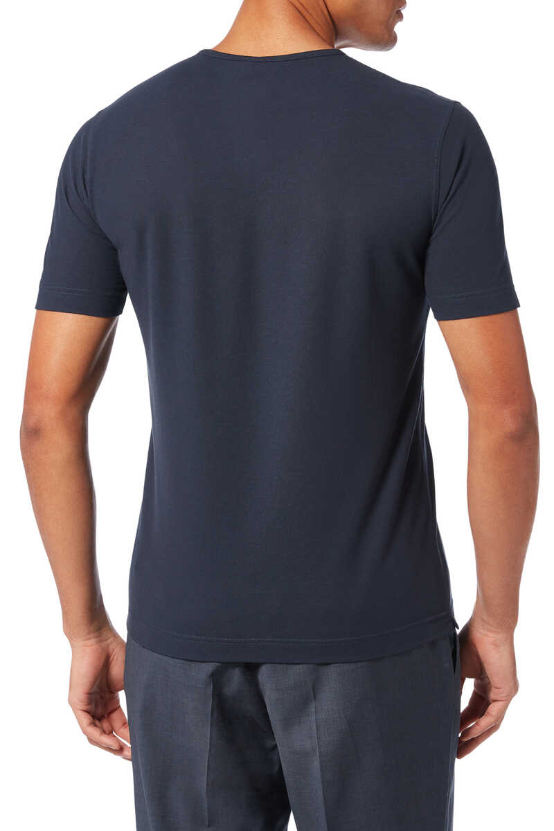 Ice Cotton V-Neck T-Shirt image thumbnail number 3