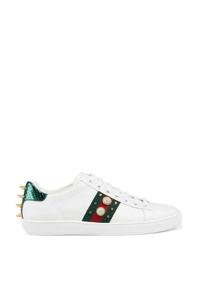 Ace Studded Leather Sneakers
