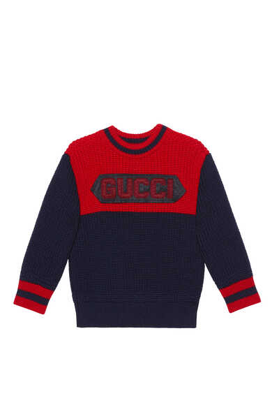 Gucci Patch Wool Sweater