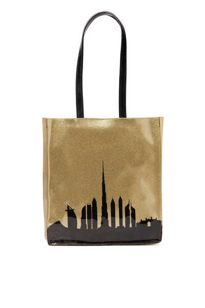 DXB Skyline Medium Tote Bag