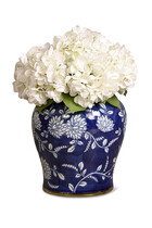 Artificial Hydrangea in Ginger Jar