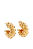 Ridge Claw Hoop Earrings