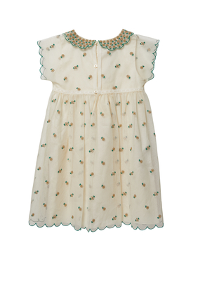 Double G Embroidery Tulle Dress