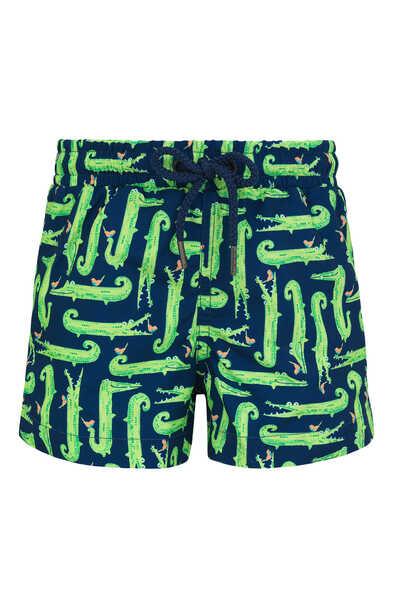 Crocodile Print Swim Shorts