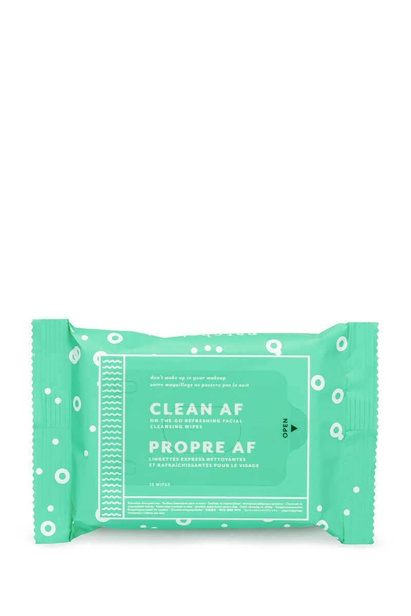 Clean AF Facial Cleansing Wipes (1 Pack) image number 2