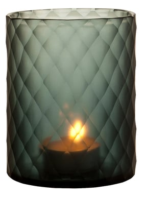 Small Morton Hurricane Sapphire Candle Holder