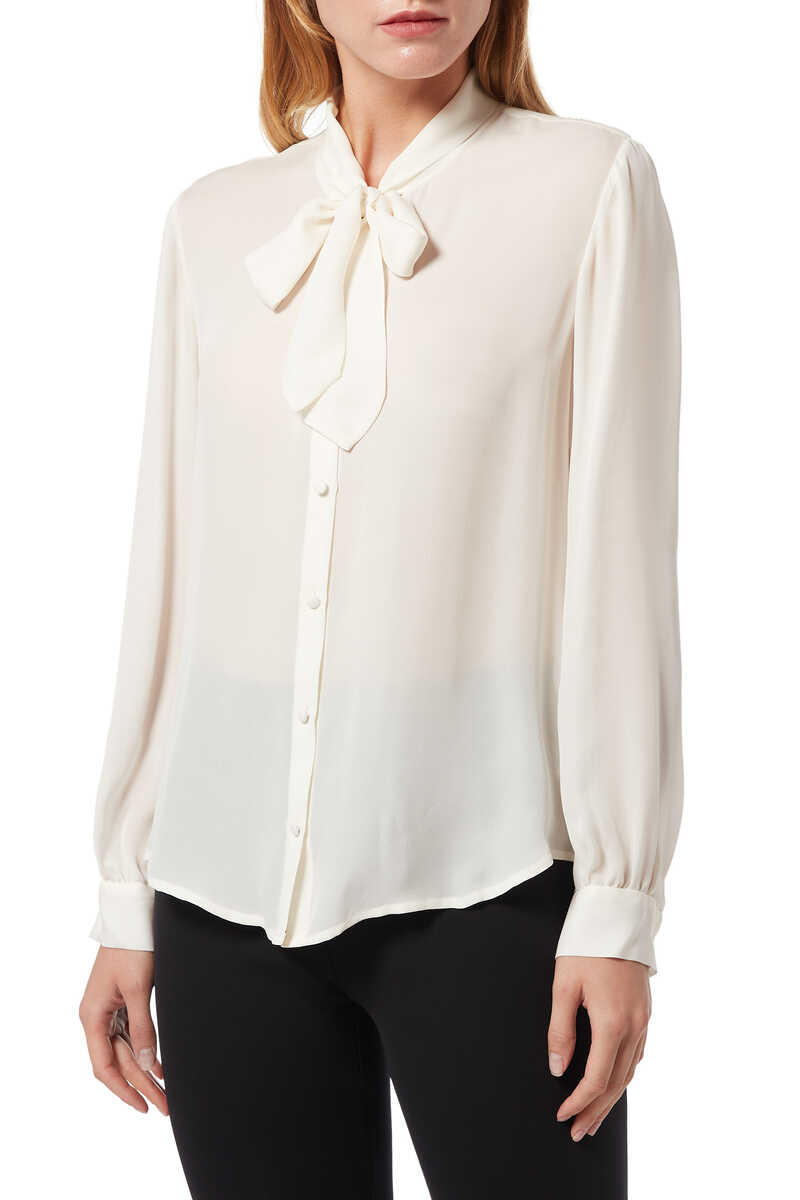White Giselle Blouse image number 1
