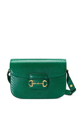 Horsebit 1955 Python Small Shoulder Bag