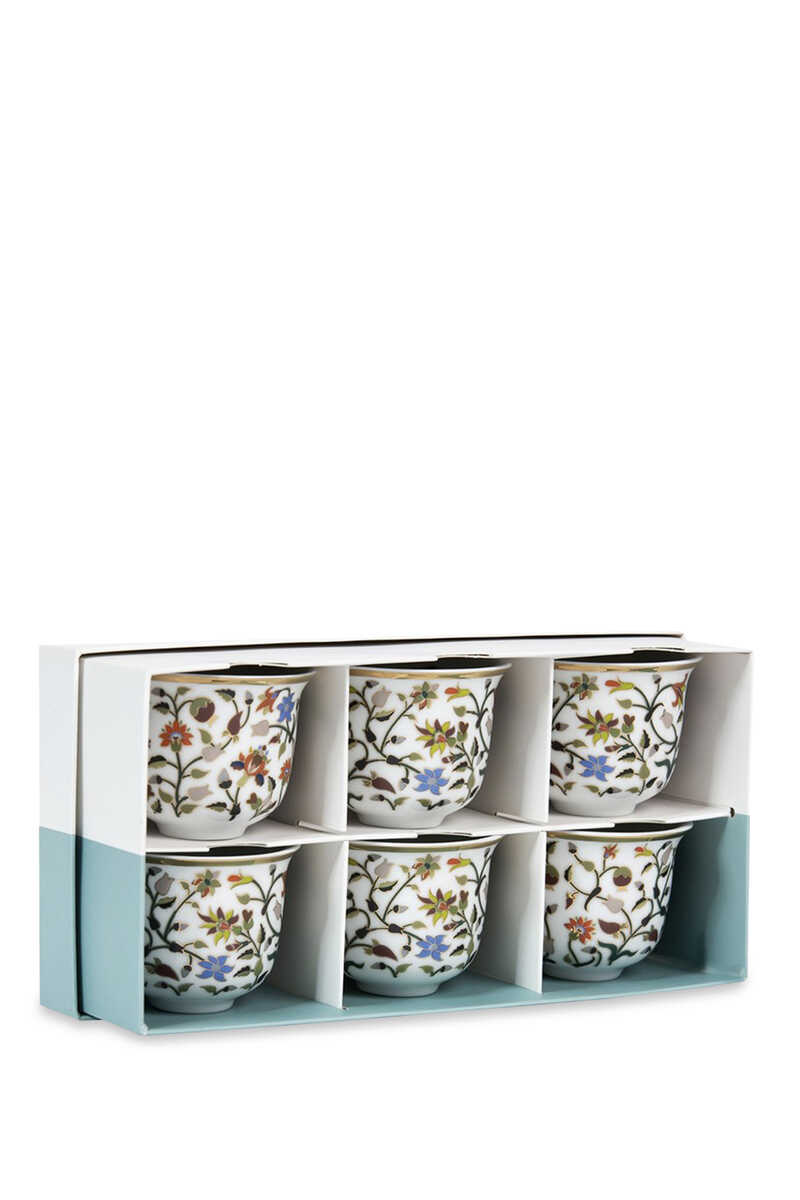 Majestic Arabic Coffee Cups, Set of Six image number 1