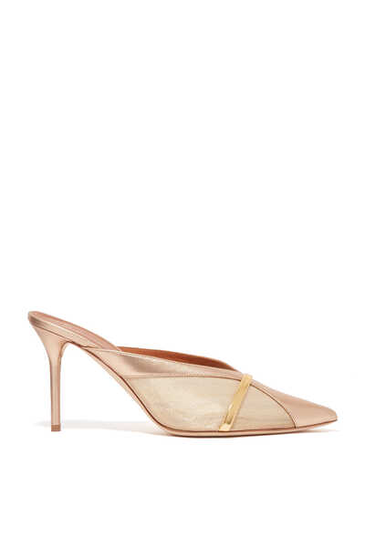 Bobbi Metallic Mesh Mules