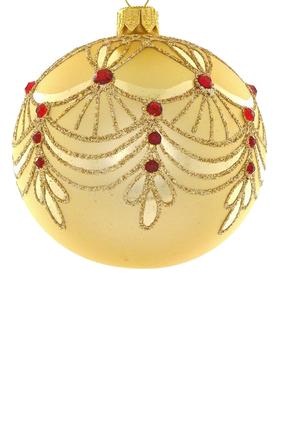 Jeweled Glass Ball Ornament