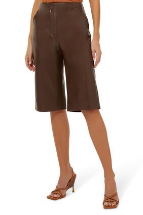 Tazu Leather Shorts