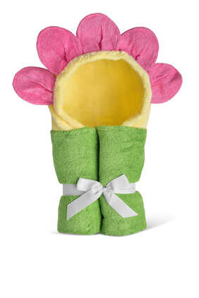Sunflower Two-Sided Hooded Towel
